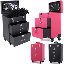 Professional Beauty tools casters Trolley Nail Salon Cosmetic Case makeup permanent make up kit(China (Mainland))