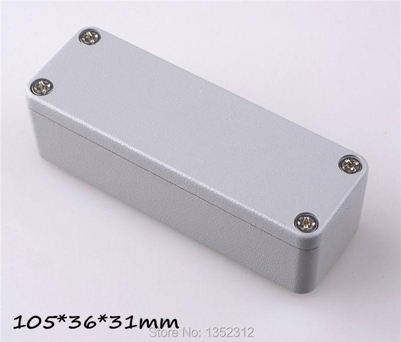5 pcs/lot 105*36*31mm aluminum enclosure IP68 waterproof aluminum box aluminum amplifier case project box DIY control box(China (Mainland))