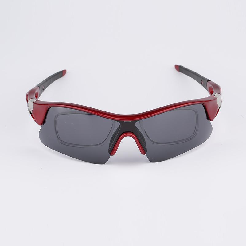 Womens cheap online gray polarized eyeglasses prescription lenses red spectacle frames black earpiece sunglasses shop online(China (Mainland))