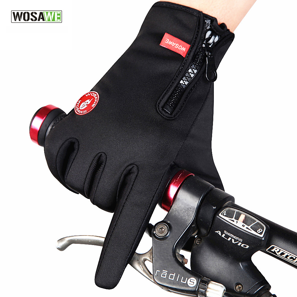 WOLFBIKE Unisex Winter Running Gloves Motorcycle Racing Bike Cycling Full Finger Gloves for Outdoor Fun & Sports Hiking Skiing