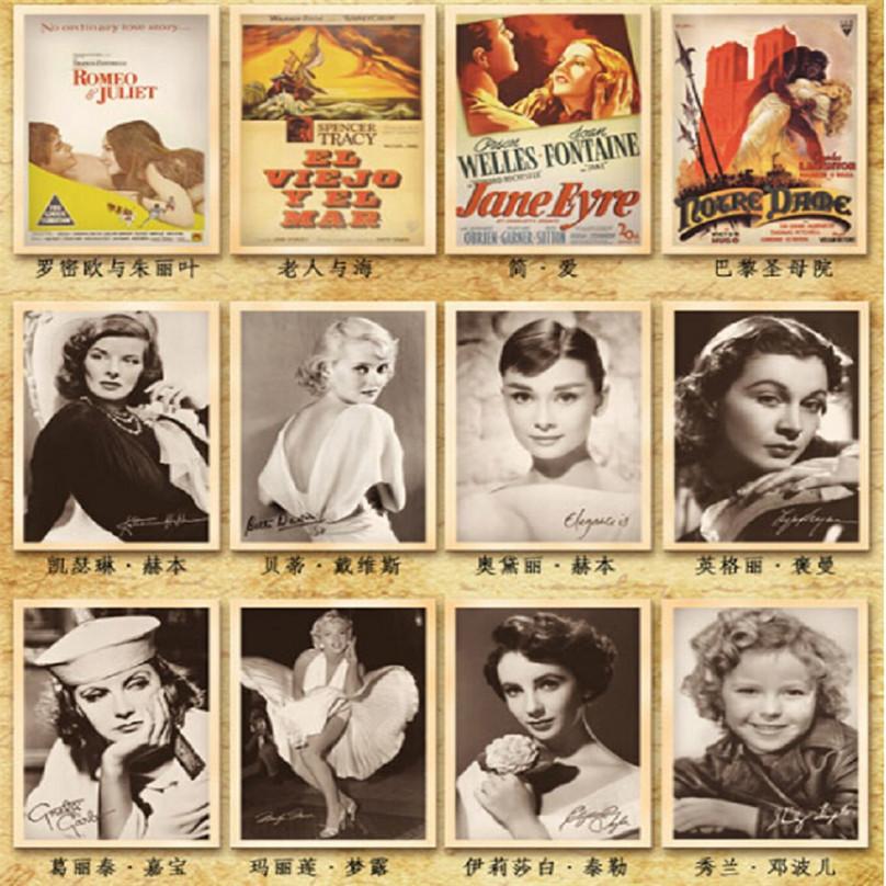 1 набор 32 x высокого качества мода классический фильм путешествия открытка Винтаж Фото фотография плакат Открытки поздравительные открытки