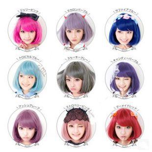 New Hot 32cm short straight sexy ladies Pink Red Bob synthetic hair wig peruca,Top quality Korean Rose hairnet kanekalon fibre(China (Mainland))