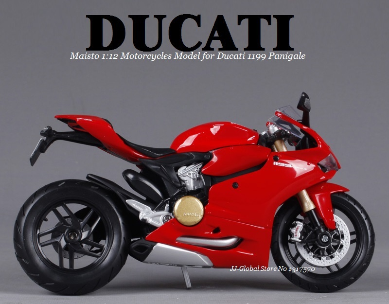 1:12 Alloy ABS Plastic Super Motorcycle Model for Ducati 1199 Panigale Best of Packing Box as Toys Gift and Collection for Boys(China (Mainland))