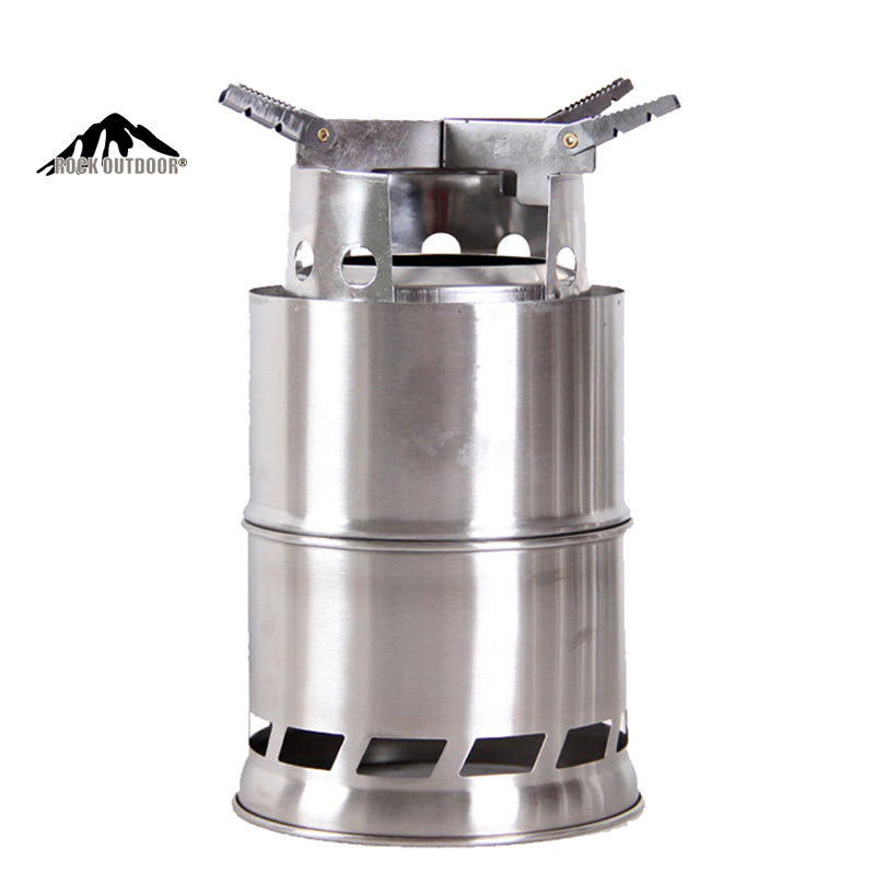 6 Pcs Stainless Steel Camping Stove Outdoor portable wood stove Firewoods Lightweight BBQ Picnic Solidified Alcohol Stove(China (Mainland))