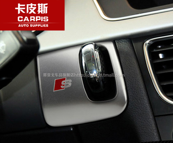 Stainless steel and Aluminium alloy word sticker for car key hole decoration for audi A4 A5 2009-2015 Left-hand driving only(China (Mainland))