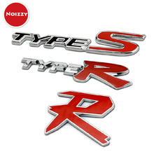 TYPE R Type S Refit 100% 3D Metal Car Auto Grille Badge Emblem Sticker Tuning Honda Civic Accord CRV Fit HRV Car-Styling - Noizzy Styling& Accessories store