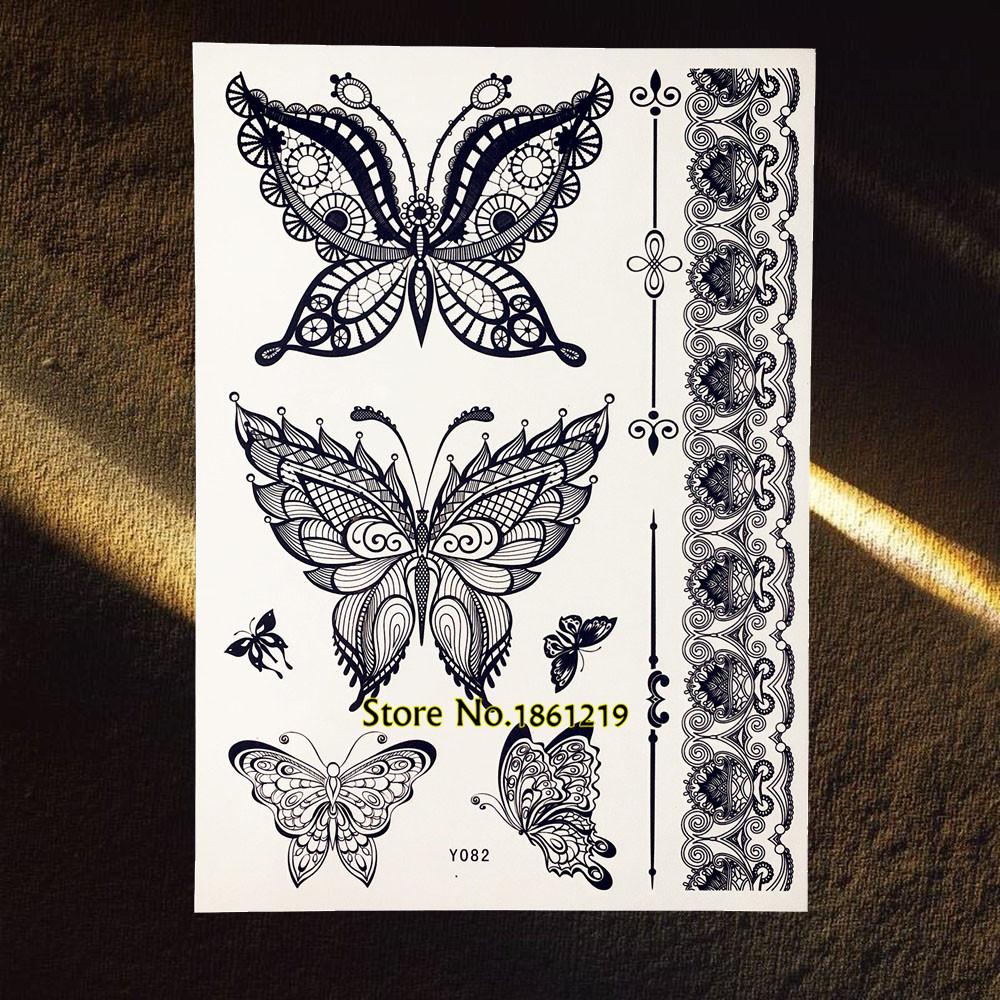 hohe qualit t sch ne schmetterling tattoos werbeaktion. Black Bedroom Furniture Sets. Home Design Ideas