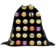 Buy Unisex Emoji Backpacks 2017 New Fashion Women Backpack 3D Printing Bags Drawstring Backpack Man women Mochila emoji for $3.09 in AliExpress store