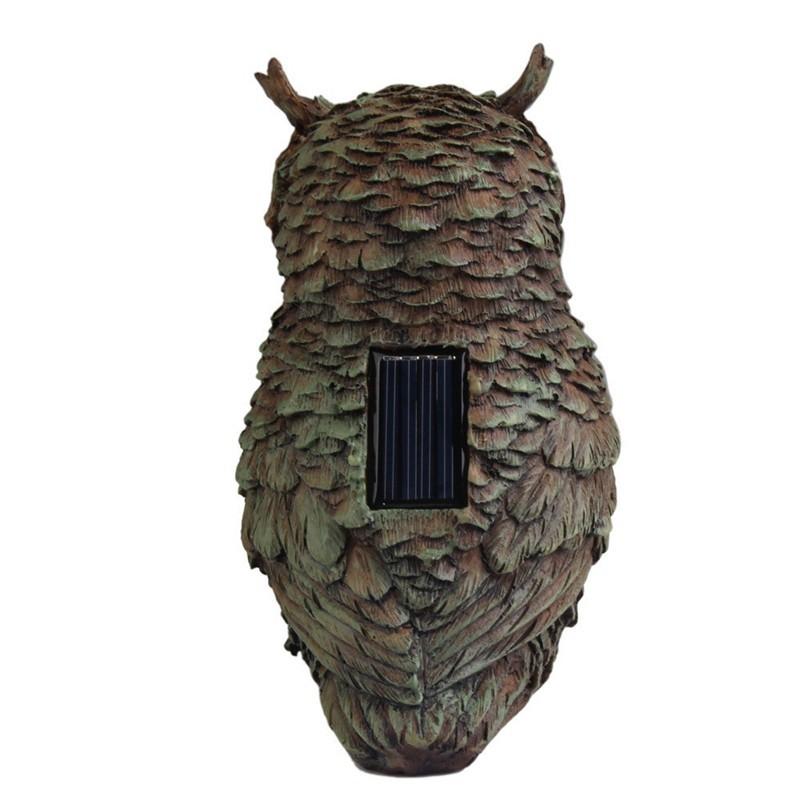 Brand New Resin ABS Solar Lights Power Garden Yard Stair Step Home Decor Waterproof Solar Owl Light Outdoor Light Statue