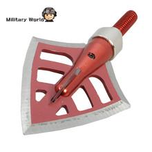 3pcs Lot 125 Grain Hunting Archery Arrowhead 4 Blade Outdoor Shooting Military Steel Arrow Tip Broadheads