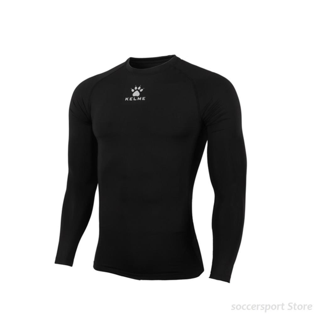 Kelme Original Children's Soccer Jerseys K15Z734 Kids Pro Thin Long Sleeve Straitjacket Black Hot Sale(China (Mainland))