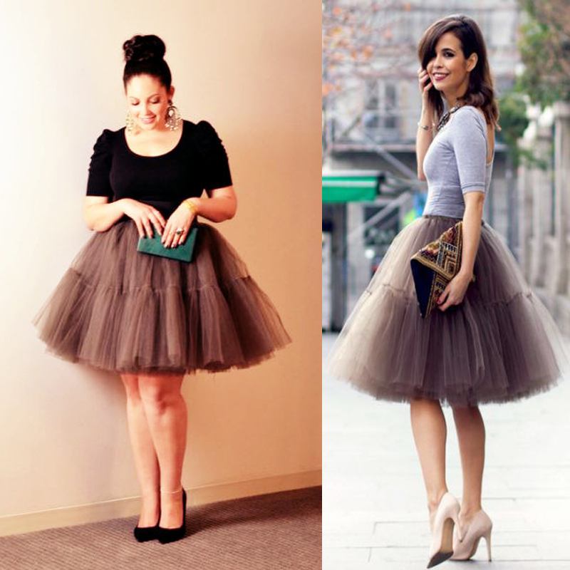 New Elegant 2015 Summer Style 5 Layers Long Celebrity Skirts Womens Princess Midi Tutu Tulle Skirt Party Gowns YJQX00010(China (Mainland))