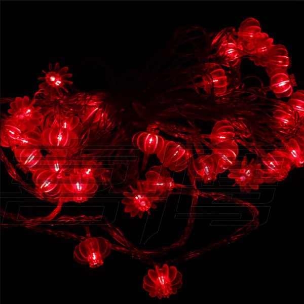 Chinese Lantern String Lights Outdoor : 5M 40LEDs AC 110V Red Chinese Lantern String Light LED String Lights Outdoor Decoration String ...