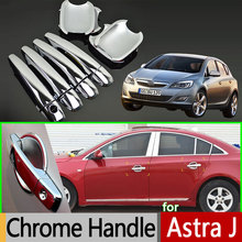 Opel Holden Vauxhall Astra J Luxurious Chrome Door Handle Car Covers ABS Plastic Accessories Stickers Styling - Langens Club store