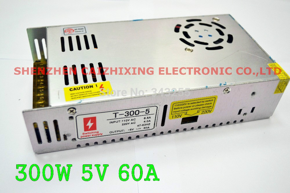 Free Shipping 300W 5V 60A three Output Switching Power Supply;100V 220V AC input;5V 70A output, CE and ROHS approved<br><br>Aliexpress