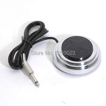 Silver Round Base tattoo Foot Switch Foot Pedal for Tattoo Machine Tattoo Power free shipping Supply FS-11