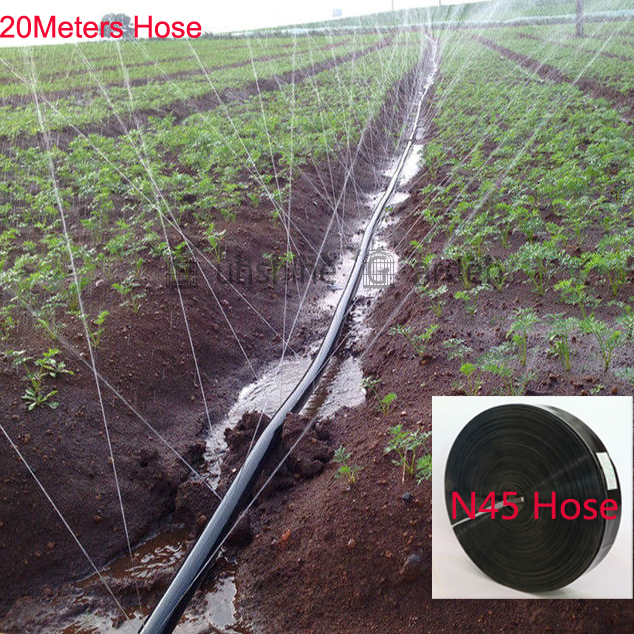 20 Meters Garden Drip Tape 3 Holes type Irrigation Kit N45/1'' Hose Watering System Flat drip line 0.19mm thickness 3 holes(China (Mainland))