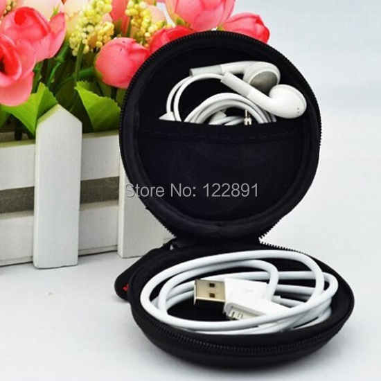 Wholesale Carrying Hard Hold Case Storage Bag Box for Earphone Headphone Earbuds SD Card  USB Cable Case 50pcs/lot Free shipping<br><br>Aliexpress