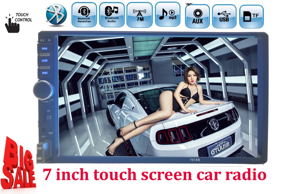 NEW 7 Inch LCD HD Double DIN Car In-Dash Touch Screen Bluetooth/ FM/ MP4/MP5 player Auto radio Support rear view camera(China (Mainland))