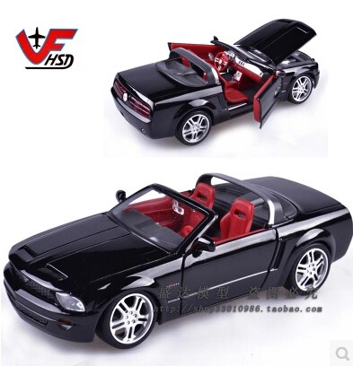 Maisto 1:24 Ford Mustang GT Original simulation high-quality alloy car model couple Roadster black Fast & Furious gift(China (Mainland))