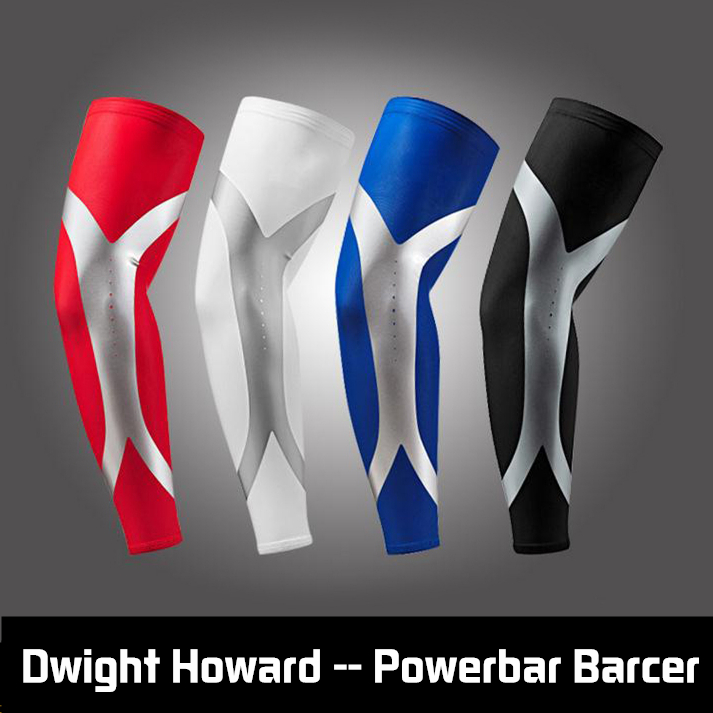 100% newest arrival high elastic Quick dry Dwight Howard Sport Elbow Arm Warmers Pad Long Arm Sleeve Support Basketball(China (Mainland))