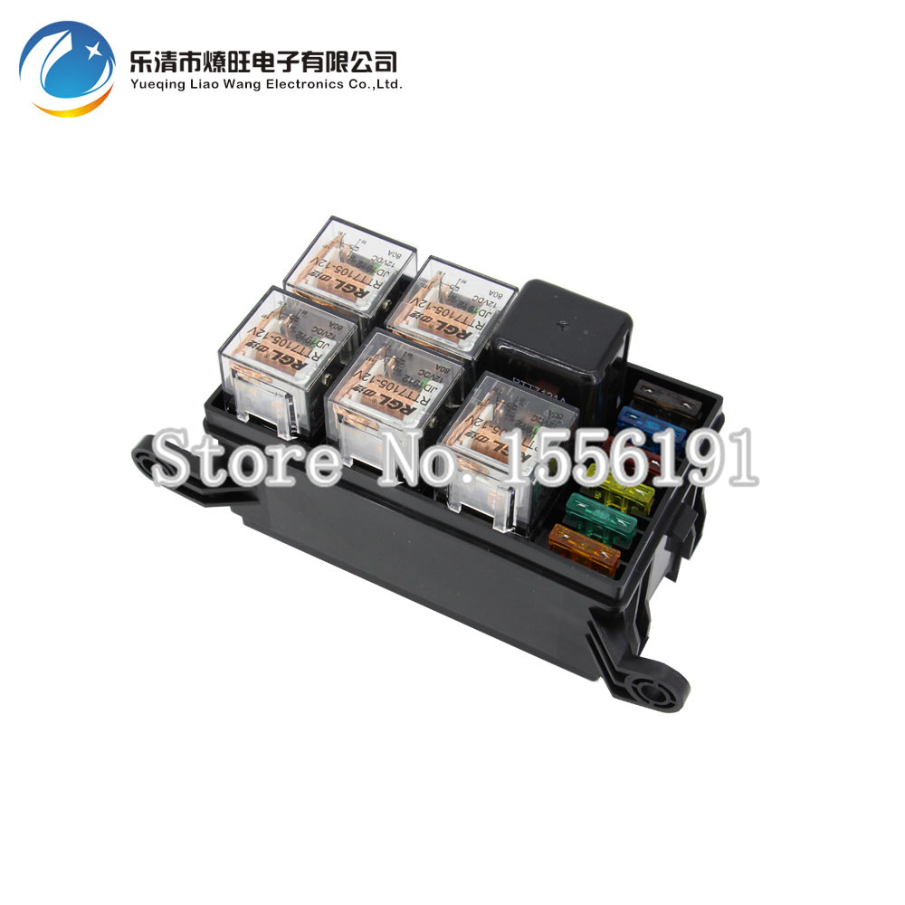 6 Way Auto font b fuse b font box assembly with 1PCS 12V 40A 5PCS 4Pin compare prices on relay fuse car online shopping buy low price fuse box card processing at eliteediting.co