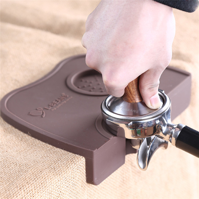 Espresso Coffee Tamper Mat Silicone Corner Mat(no Coffee Stamper) 21x15x4.5cm Black/Coffee Perfect(China (Mainland))