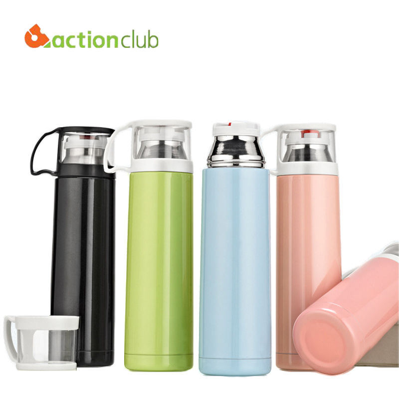 Actionclub Bottle Brushed Stainless Steel Vacuum Mug Flask Simple Style Business Office Cup Child Sports Car Thermos HH656 - Bestore Home Supplies Co.,Ltd. store