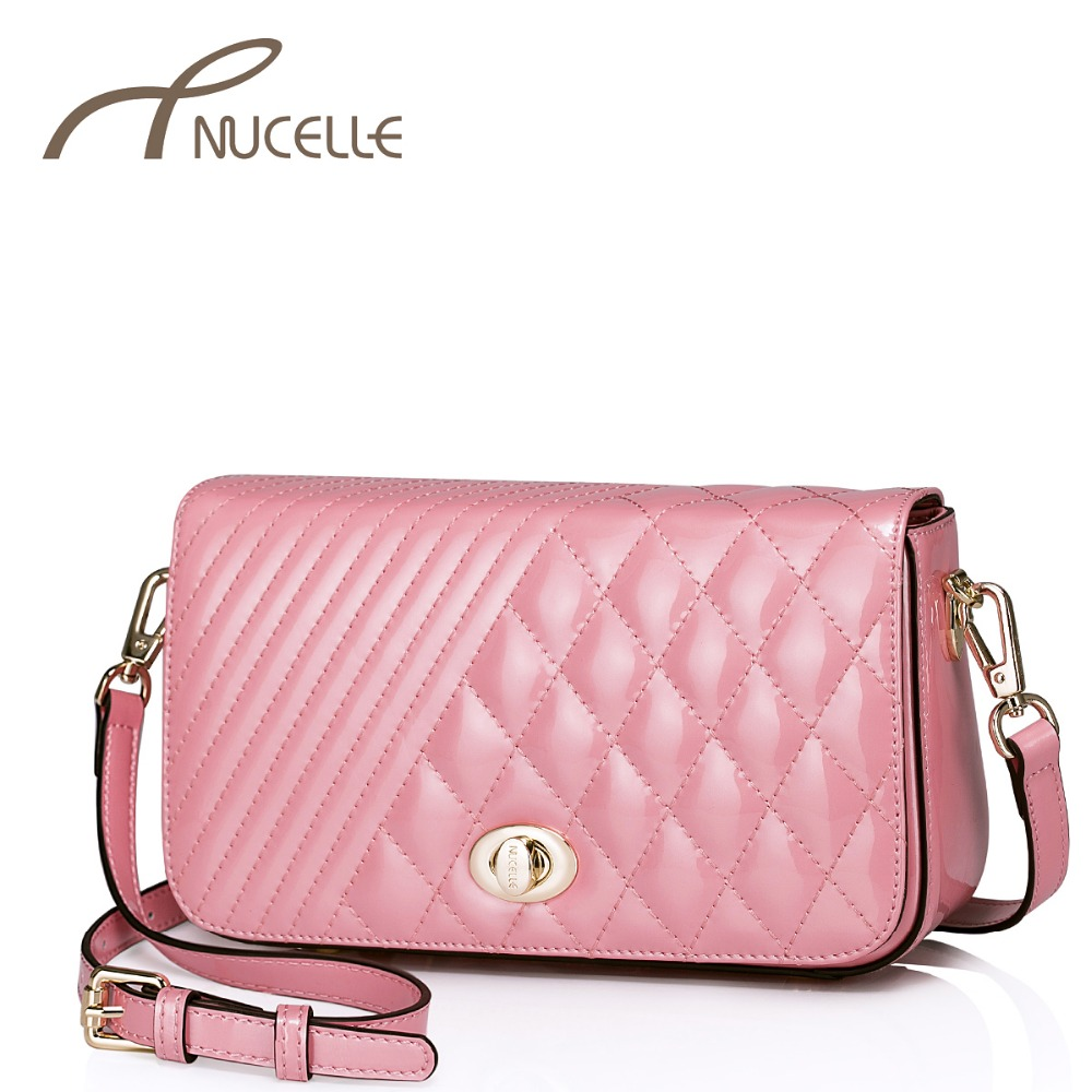 Nucelle Women Genuine Leather Messenger Bags Fashion Ladies Lock Cattle Split Leather Crossbody bag Female Bolsas NZ5814(China (Mainland))