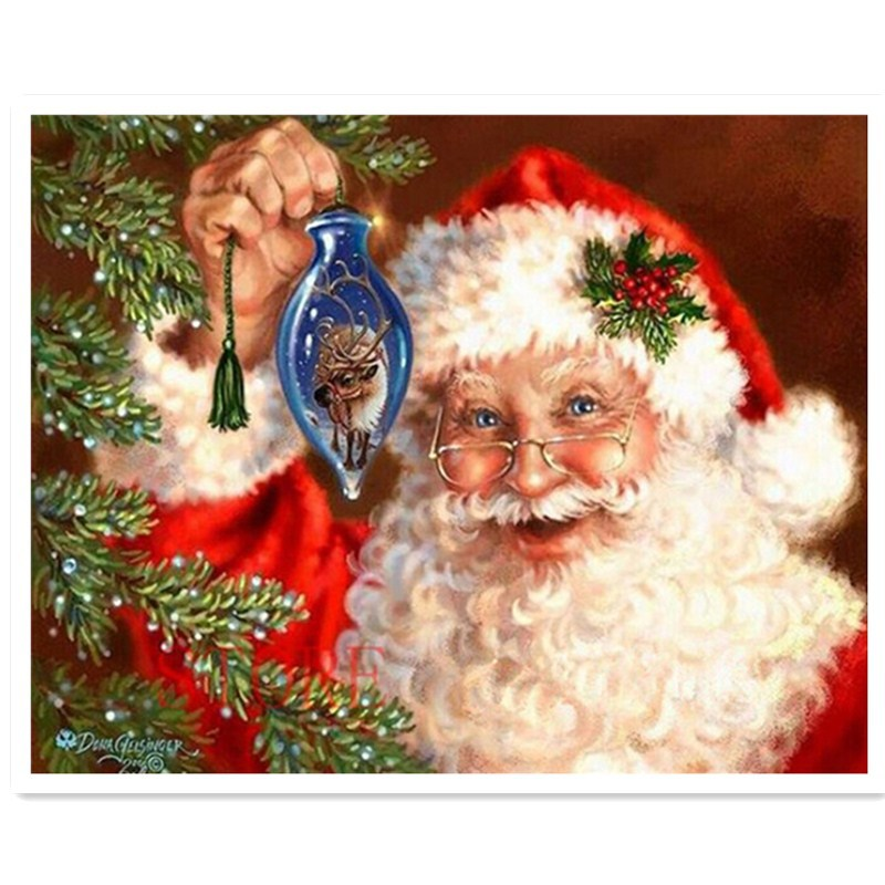 diy diamond painting xmas Santa Claus full square drill diamond cross stitch painting rhinestone pasted painting free shipping