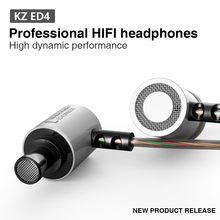 Hot Sale KZ ED4 In Ear Headphones Earbuds Original Kz HiFi Music Headset Auriculares Noise Cancelling Stereo Earphone With Mic