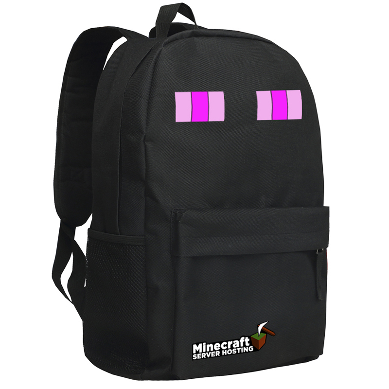 Гаджет  New Arrival Minecraft Backpacks Schoolbag Minecraft Enderman Backpack for unisex limit bolsas GAME Gifts Free Shipping 45cm boys None Камера и Сумки