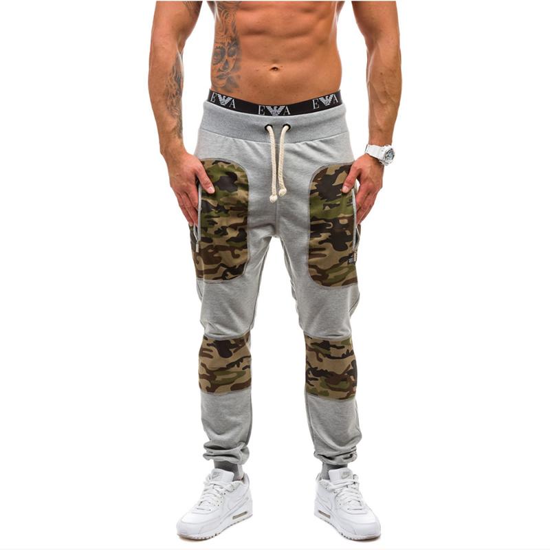 Men's Jogger Pants Outdoors Men's Little Camouflage Spell Color Harem Pants Sweat Pants Men Trousers Sports Drawstring wear(China (Mainland))