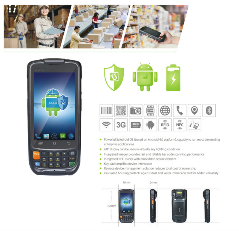 2015 Best selling i6200s Shop Use Android PDA Handheld Terminal GPRS WIFI GPS Quad Core 1D Barcode Scanner(China (Mainland))