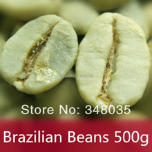 500g Brazil roasted Green Coffee Beans 100% Original High Quality Green Slimming Coffee organic slimming bean for weight loss