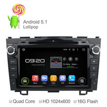 Quad Core 1024*600 Android 5.1.1 Car DVD Player Honda CRV 2006 2007 2008 2009 2010 2011 GPS Navigation Radio Built-in WIFI - Esson Technology store