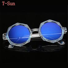 Woman Fashion Sunglasses Stars Luxury Brand Design Retro Star Style Round Vintage Club Elegant Patry Mirror Glasses