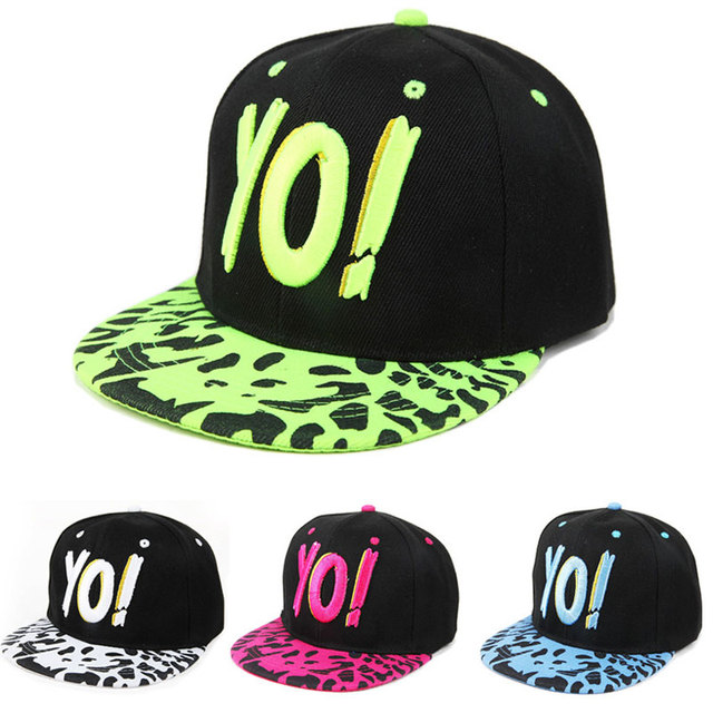 2015 Новый Бейсболка Плоским Вышивка Письма Детей Вдоль Хип-Хоп Танец Hat Gorras ...