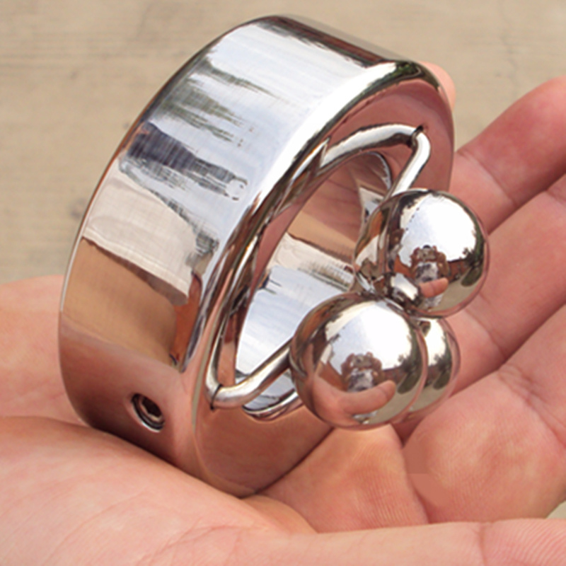 5 Size Heavy Stainless Steel Scrotum Stretchers Scrotum Ring Metal Locking Pendant Ball Weight Male Sex Toy B46(China (Mainland))