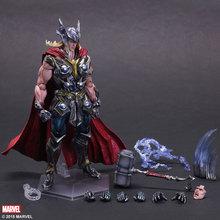 Thor Action Figure Playarts Kai Anime Toy Movie Thor Collection Model Toy Play Arts Kai Figures 270mm Free shipping