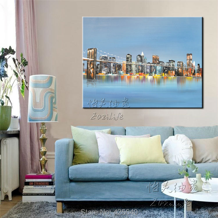 Buy New York City Painting Home Decor Home Decoration Oil Painting Wall