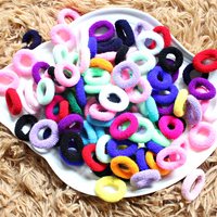 [ Special Offer ] New 100PCS Candy Color Little Girl Elastic Hair Bands Ring Rope Headwear