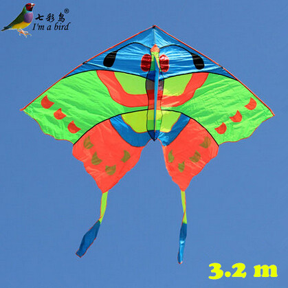 Free Shipping Hot Sale NEW 3.2m Power Pretty Butterfly Kite/ Large Kites With Handle Line Good Flying(China (Mainland))