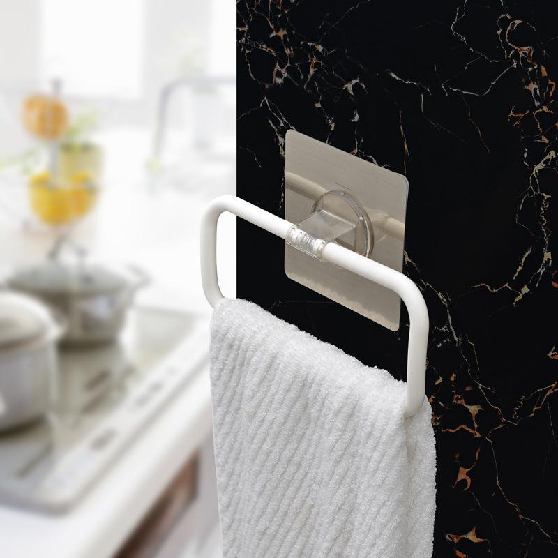 fashion sucker towel rack bar hanging racks bathroom