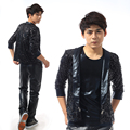 S 5XL 2016 Fashion A male singer sequins suit of cultivate one s morality Stage costumes