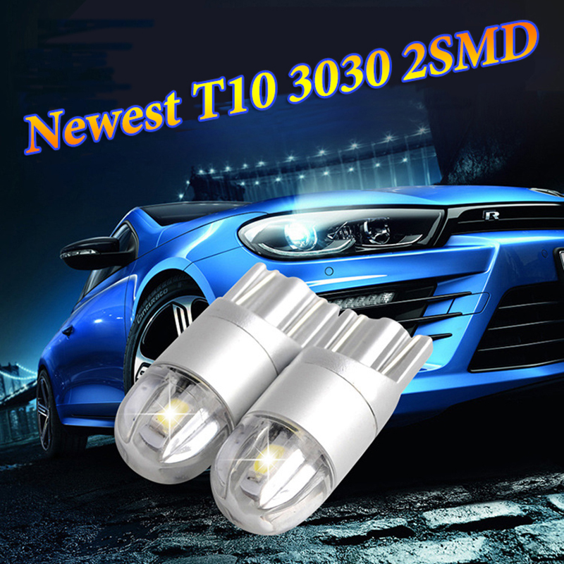 2x W5W LED 12V T10 Car lamps 168 194 Turn Side License Plate Light car parking Fog light clearance light white yellow red blue(China (Mainland))