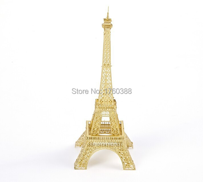 free shipping DIY metal puzzle EIFFEL TOWER puzzle model creative home decorations office desktop ornaments(China (Mainland))