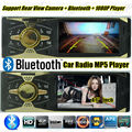 Car Radio bluetooth 4 screen MP5 FM USB 1 Din remote control USB port 12V Car