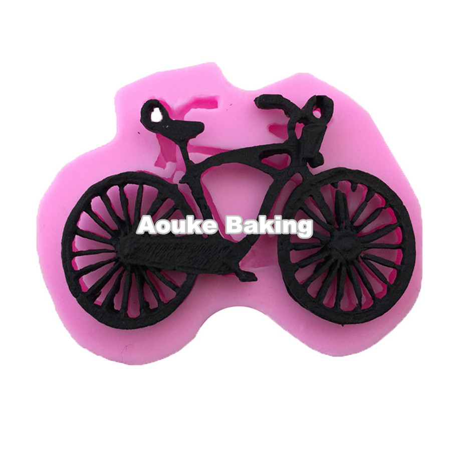 3D Bicycle Shaped Silicone Cake Candy Chocolate Fondant Jelly Pudding Biscuit Mould,DIY Cake Cookie Decoration Tool M013(China (Mainland))