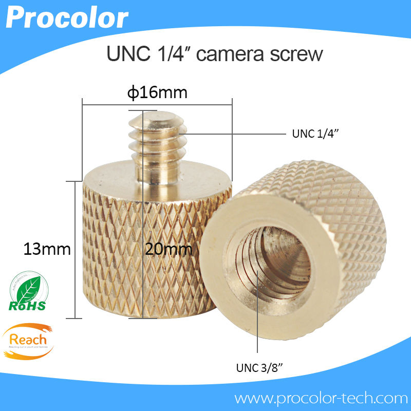 """10 pcs 3/8"""" Female to 1/4"""" Male Tripod Thread Reducer Adapter Brass Copper screw Connecting camera screw for tripod ball head(China (Mainland))"""